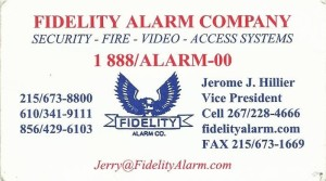 Fidelity Alarm bus card