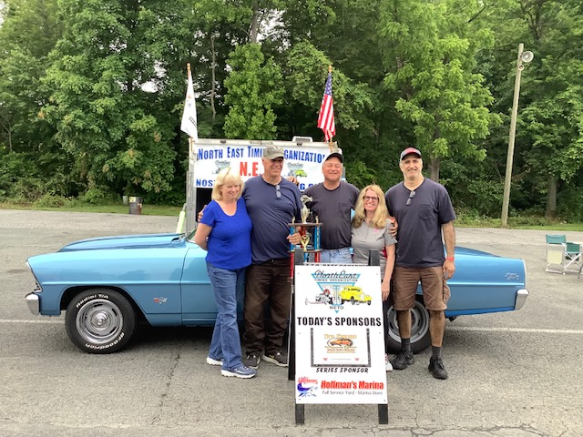 Nostalgia Runner Up - Bill Krause with his blue '67 Chevy II