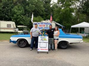Nostalgia Runner Up – Tyler Segura in his Blue and white '63 Plymouth