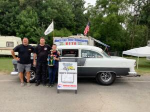 Comp Runner Up – Steve Vallieres in his '55 gray and white Chevy